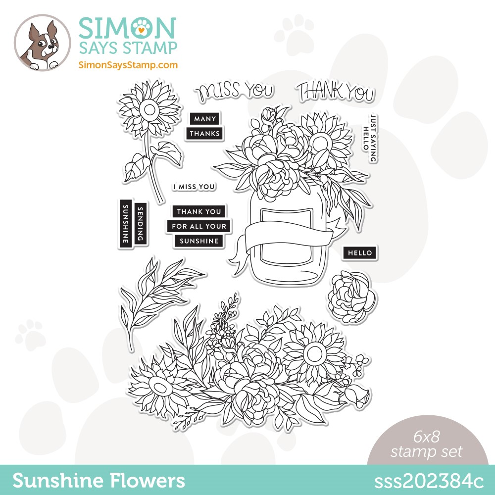 Simon Says Clear Stamps SUNSHINE FLOWERS sss202384c * zoom image