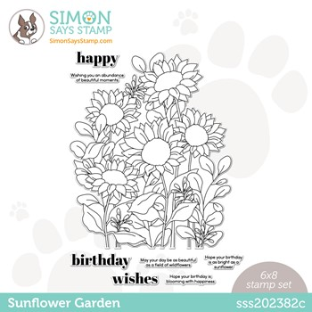 Simon Says Clear Stamps SUNFLOWER GARDEN sss202382c