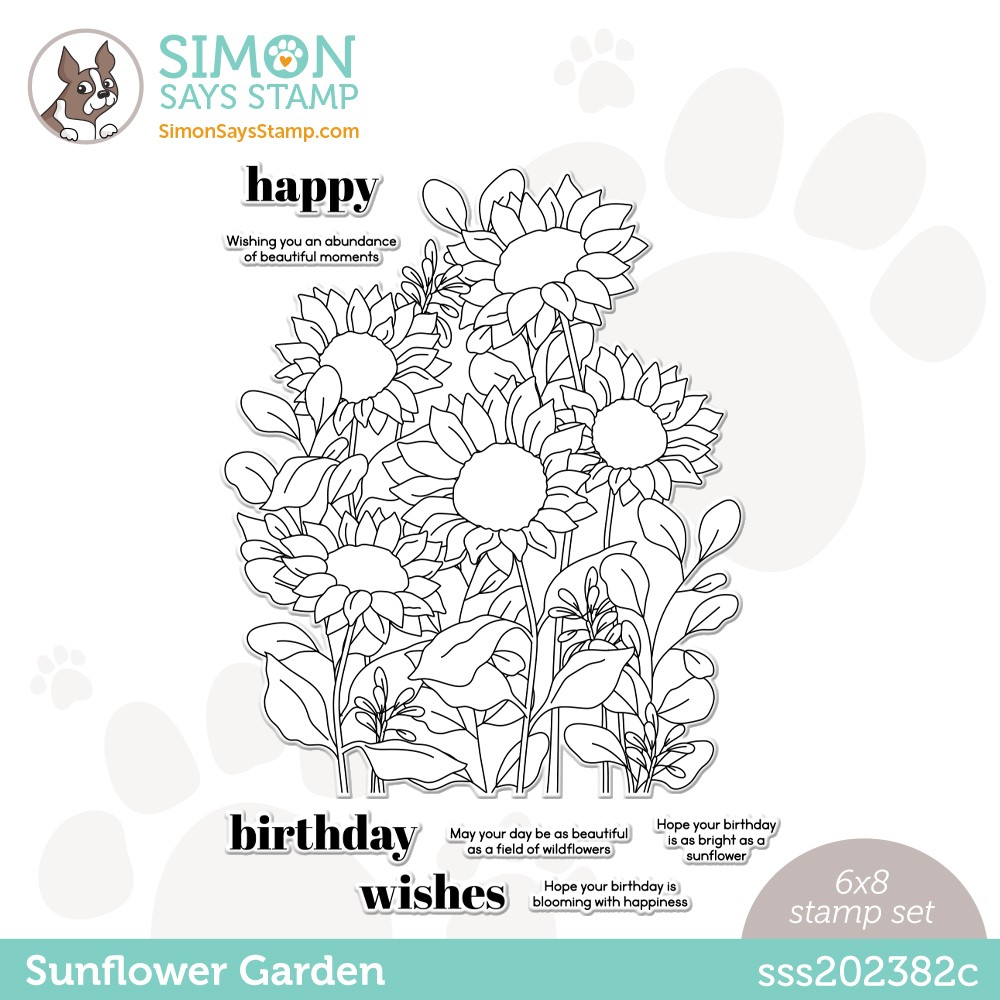 Simon Says Clear Stamps SUNFLOWER GARDEN sss202382c zoom image