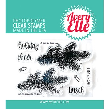Avery Elle Clear Stamps LAYERED PINE ST-21-31