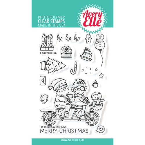 Avery Elle Clear Stamps MR AND MRS CLAUSE ST-21-30 Preview Image