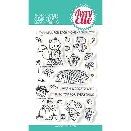 Avery Elle Clear Stamps FALL PICNIC ST-21-29 Preview Image