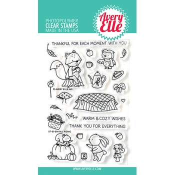 Avery Elle Clear Stamps FALL PICNIC ST-21-29
