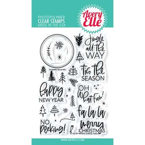Avery Elle Clear Stamps MERRY CIRCLE TAGS ST-21-27 Preview Image