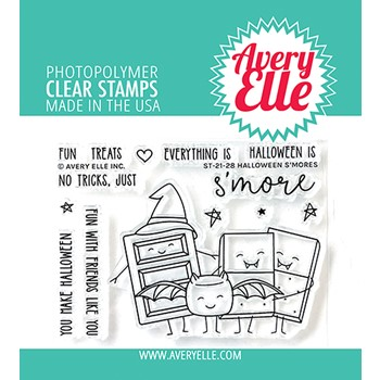 Avery Elle Clear Stamps HALLOWEEN S'MORES ST-21-28