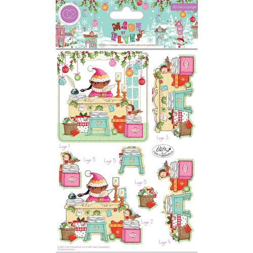 Craft Consortium MADE BY ELVES 3D DECOUPAGE Set CCDPAK008 Preview Image