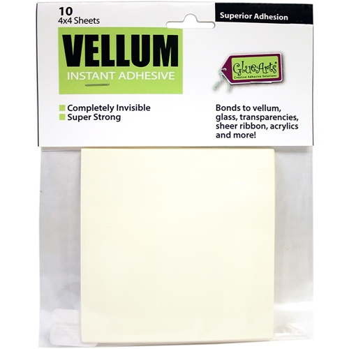 Glue Arts Crop and Glue VELLUM Instant ADHESIVE 10 Sheets Preview Image