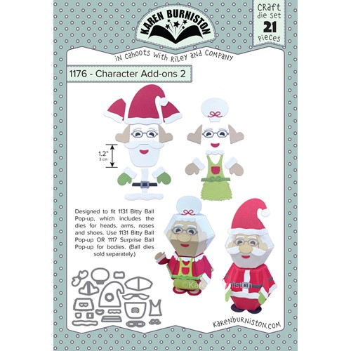 Karen Burniston CHARACTER ADD ON 2 CHRISTMAS Dies 1176 Preview Image