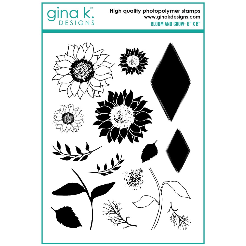 Gina K Designs BLOOM AND GROW Clear Stamps 8303 ** zoom image