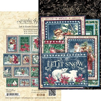 Graphic 45 LET IT SNOW Journaling And Ephemera Cards g4502327