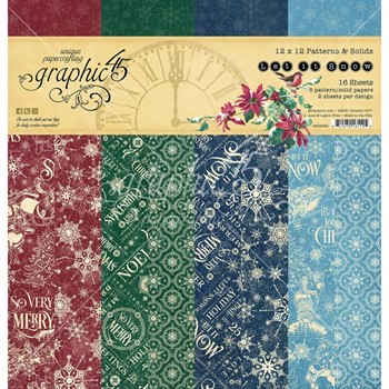 Graphic 45 LET IT SNOW 12 x 12 Patterns And Solids Paper Pad g4502324