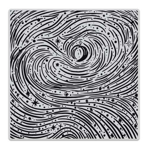 Hero Arts Cling Stamp ETCHED WINTER SWIRLS BOLD PRINTS CG853 Preview Image