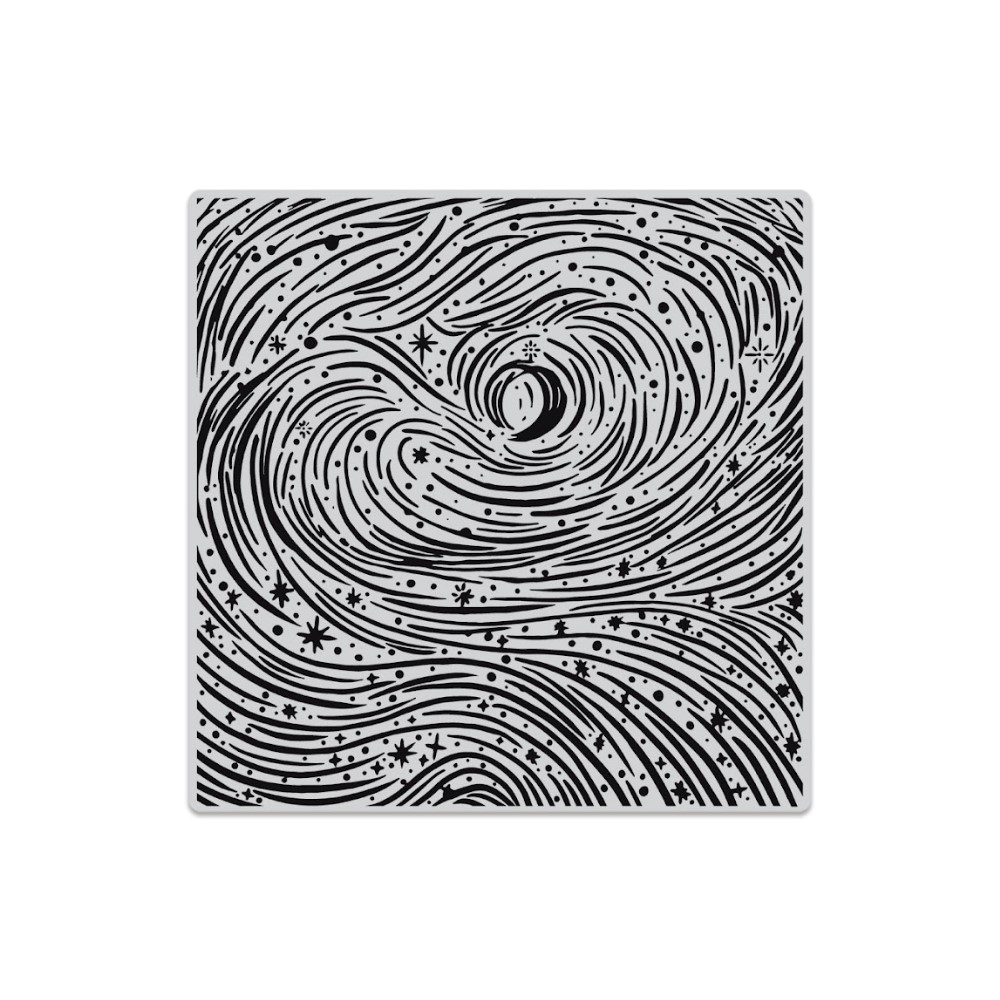 Hero Arts Cling Stamp ETCHED WINTER SWIRLS BOLD PRINTS CG853 zoom image