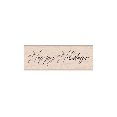 Hero Arts Rubber Stamp HANDWRITTEN HAPPY HOLIDAYS C6470 Preview Image