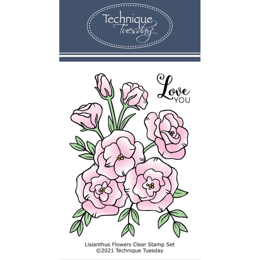Technique Tuesday LISIANTHUS FLOWER Clear Stamp Set gslis zoom image
