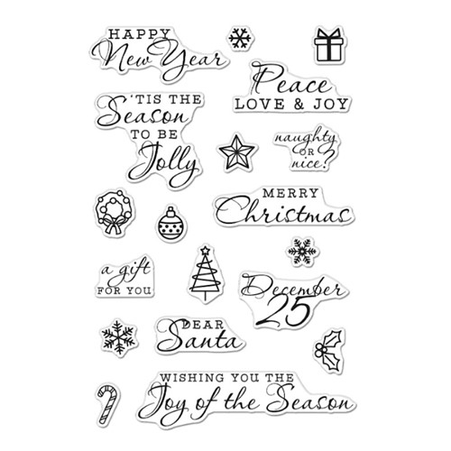 Hero Arts Clear Stamps HOLIDAY ICONS AND MESSAGES CM516 Preview Image
