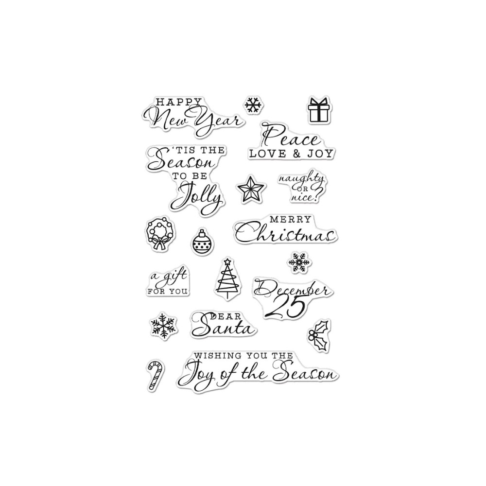Hero Arts Clear Stamps HOLIDAY ICONS AND MESSAGES CM516 zoom image