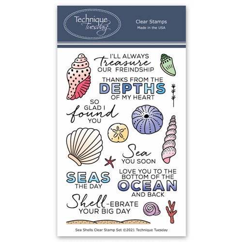Technique Tuesday SEA SHELLS Clear Stamp Set seash Preview Image