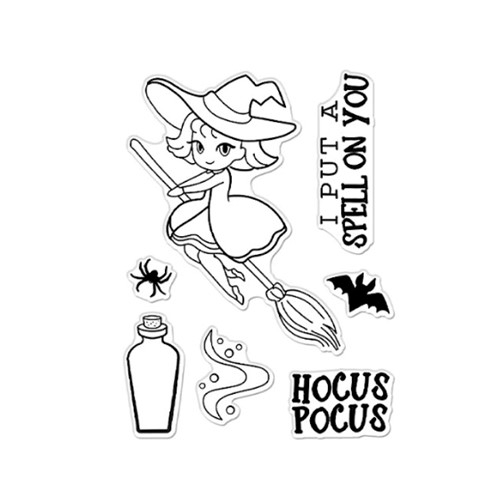 Hero Arts Clear Stamps HOCUS POCUS CM522 Preview Image