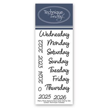 Technique Tuesday MANY MORE YEARS AND DAYS Crafting Die Set mmyad