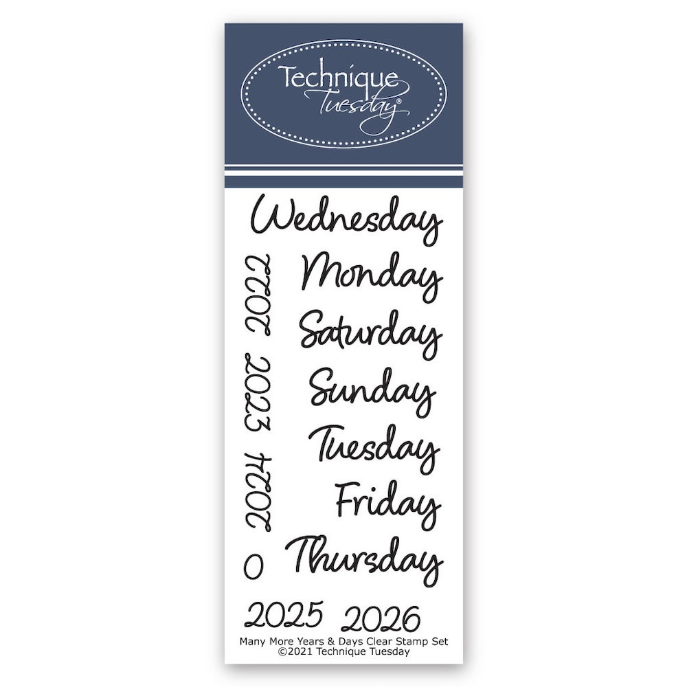 Technique Tuesday MANY MORE YEARS AND DAYS Crafting Die Set mmyad zoom image