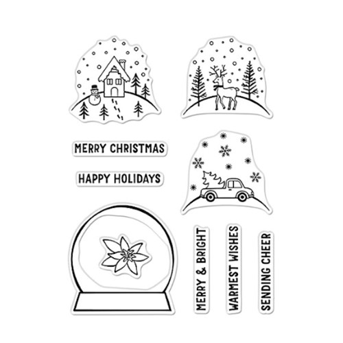 Hero Arts Clear Stamps MAKE YOUR OWN SNOW GLOBE CM530 Preview Image