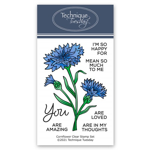 Technique Tuesday CORNFLOWERS Clear Stamp Set gscrn Preview Image