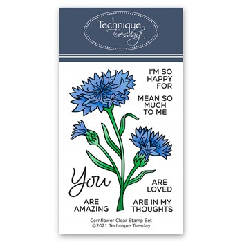 Technique Tuesday CORNFLOWERS Clear Stamp Set gscrn
