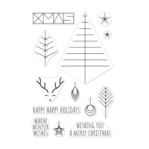 Hero Arts Clear Stamps GRAPHIC LINES HOLIDAY CM561 Preview Image