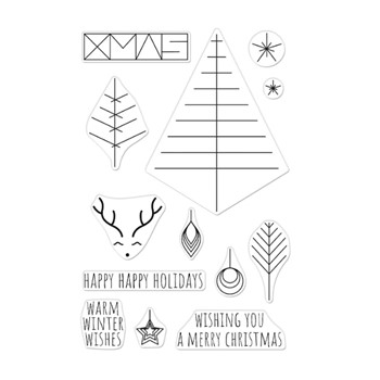 Hero Arts Clear Stamps GRAPHIC LINES HOLIDAY CM561
