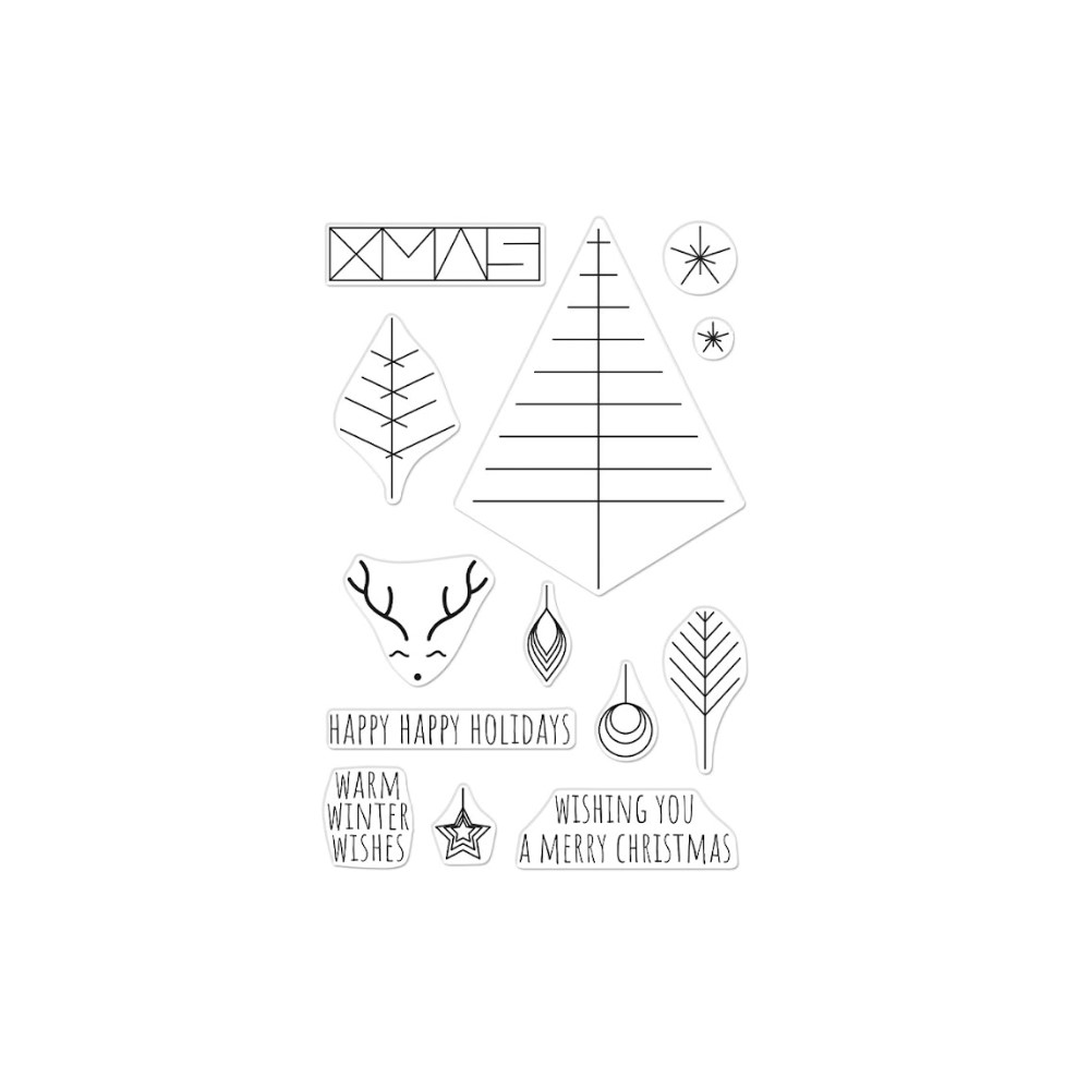 Hero Arts Clear Stamps GRAPHIC LINES HOLIDAY CM561 zoom image