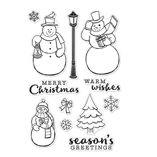 Hero Arts Clear Stamps MERRY SNOWMEN CM556 Preview Image