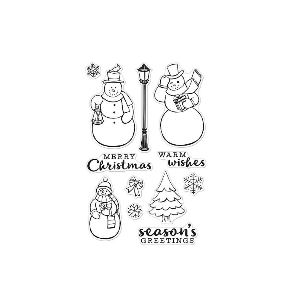 Hero Arts Clear Stamps MERRY SNOWMEN CM556 zoom image