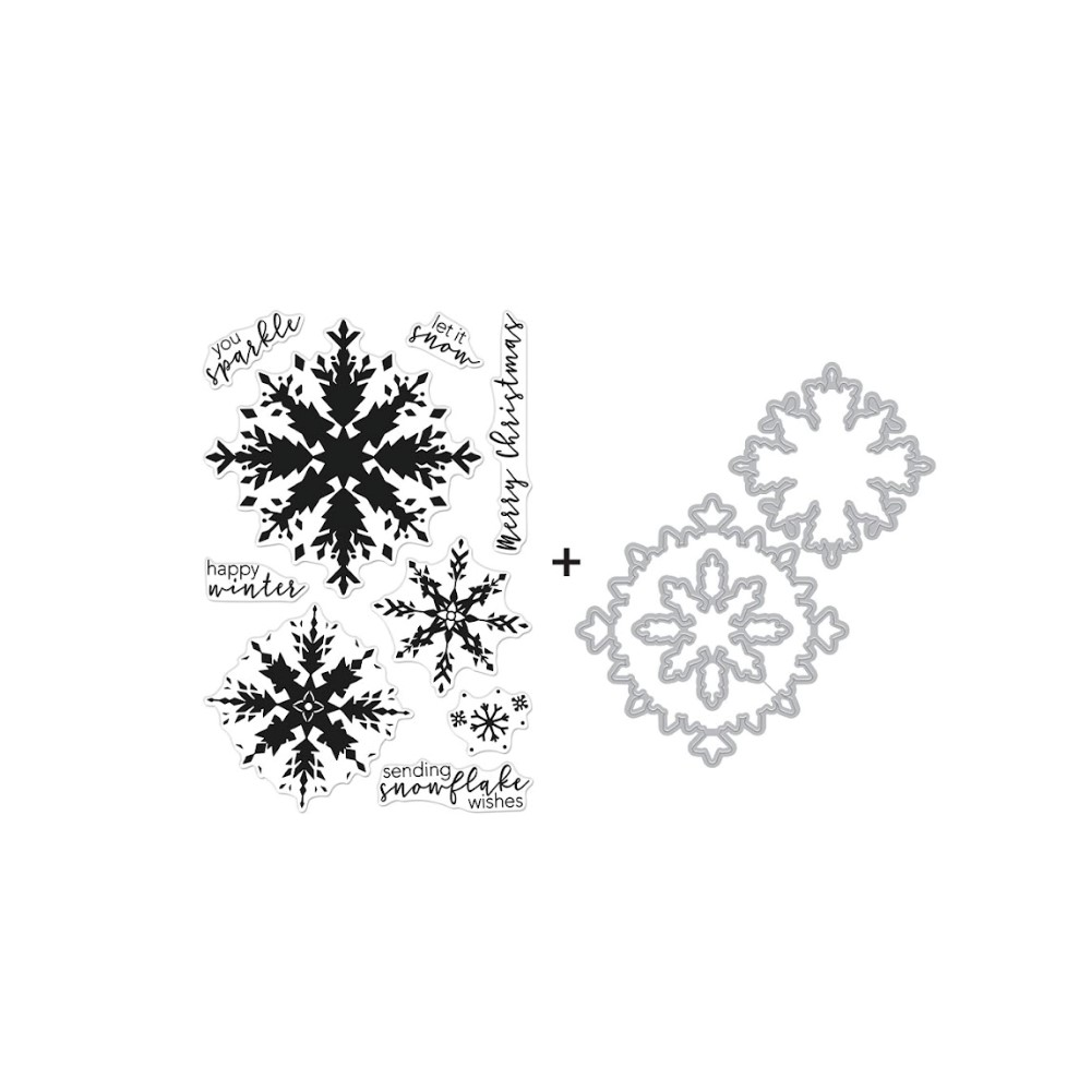 Hero Arts COLOR LAYERING SNOWFLAKE Clear Stamp and Die Combo SB289 zoom image