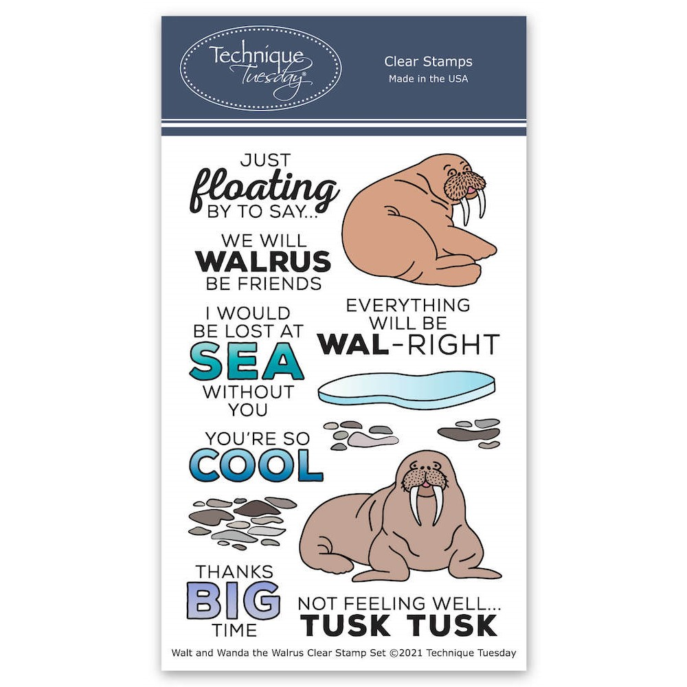 Technique Tuesday WALT AND WANDA THE WALRUS Clear Stamp Set waltw zoom image