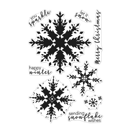 Hero Arts Clear Stamps COLOR LAYERING SNOWFLAKE CM554 Preview Image