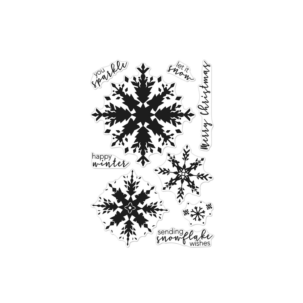 Hero Arts Clear Stamps COLOR LAYERING SNOWFLAKE CM554 zoom image