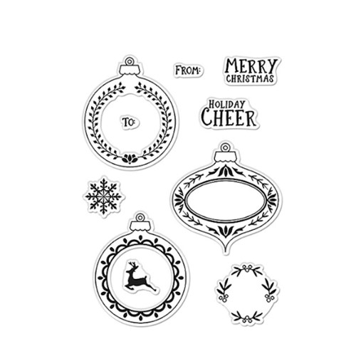 Hero Arts Clear Stamps HOLIDAY CHEER ORNAMENTS CM529 Preview Image