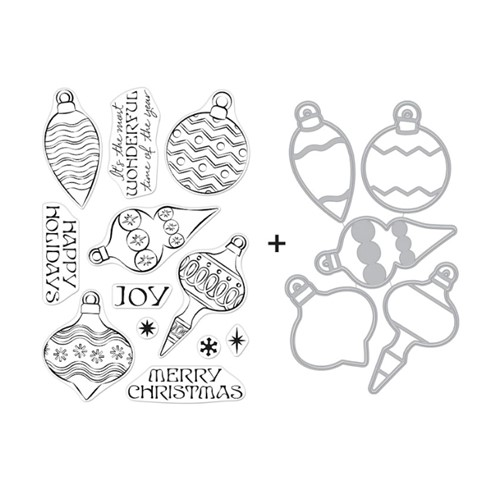 Hero Arts ORNAMENTS Clear Stamp and Die Combo SB288 Preview Image