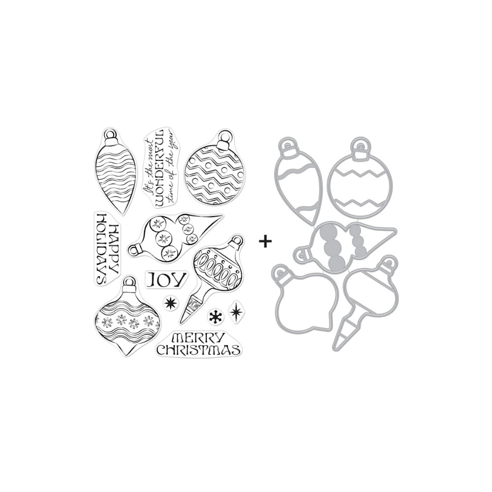 Hero Arts ORNAMENTS Clear Stamp and Die Combo SB288 zoom image