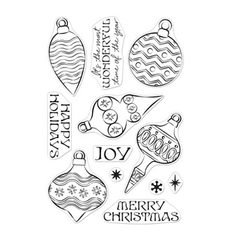 Hero Arts Clear Stamps HOLIDAY ORNAMENTS CM553