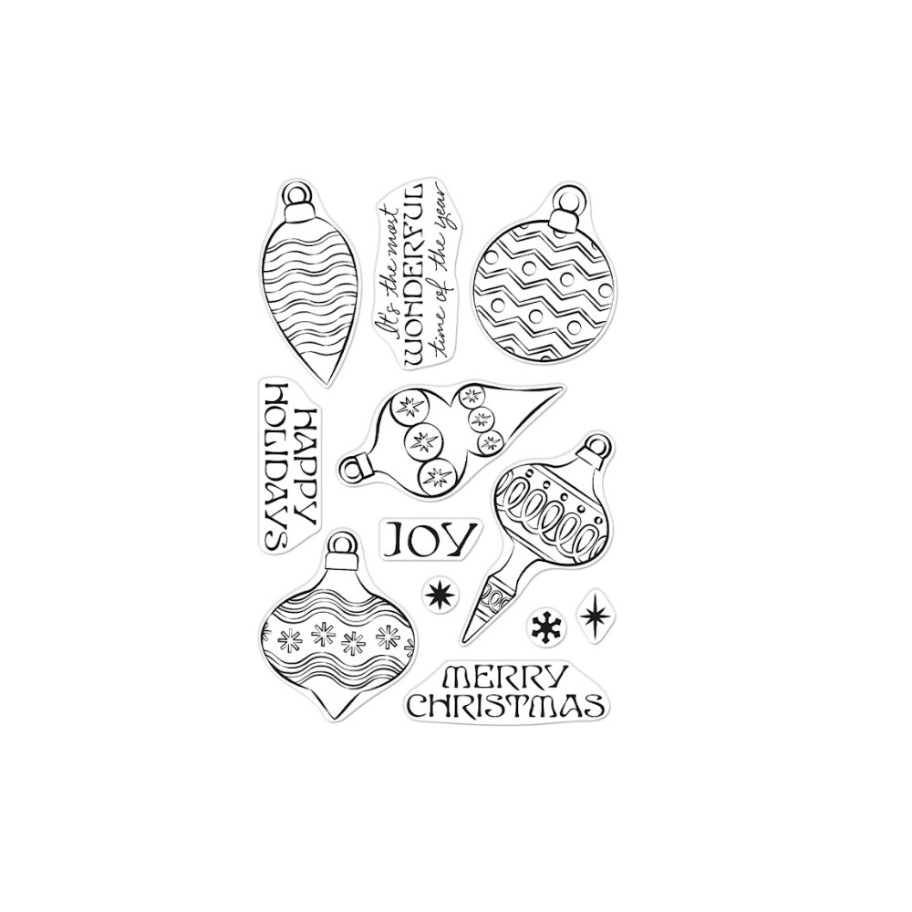 Hero Arts Clear Stamps HOLIDAY ORNAMENTS CM553 zoom image