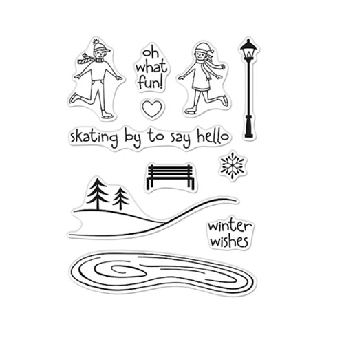 Hero Arts Clear Stamps SKATING BY TO SAY HI CM528 Preview Image