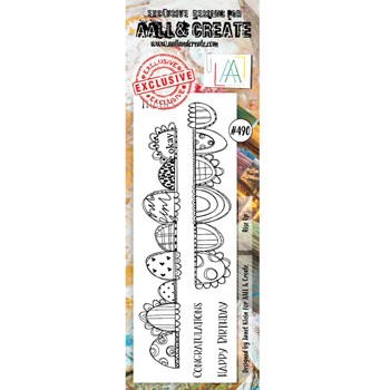 AALL & Create RISE UP BORDER Clear Stamp aall490