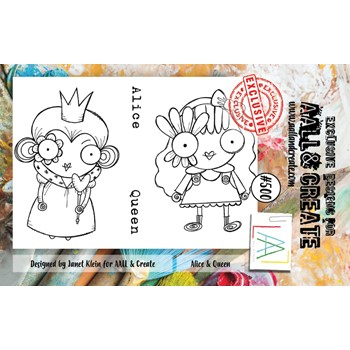 AALL & Create ALICE AND QUEEN A7 Clear Stamps aall500