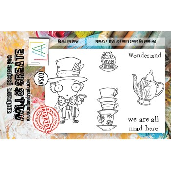 AALL & Create MAD TEA PARTY A7 Clear Stamps aall502