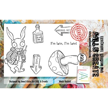 AALL & Create WHITE RABBIT A7 Clear Stamps aall506