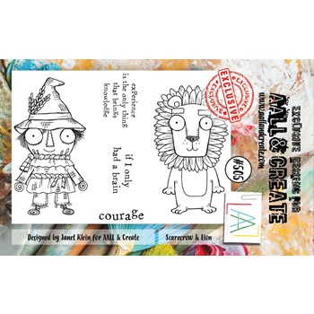 AALL & Create SCARECROW AND LION A7 Clear Stamps aall505