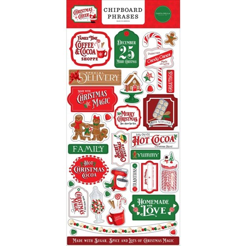 Carta Bella CHRISTMAS CHEER Chipboard Phrases cbchr141022 Preview Image