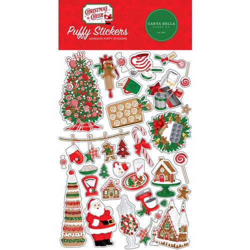 Carta Bella CHRISTMAS CHEER Puffy Stickers cbchr141066 Preview Image
